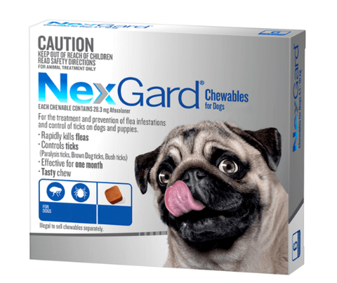 NexGard Flea & Tick Treatment for Medium Dogs 1x3Tb