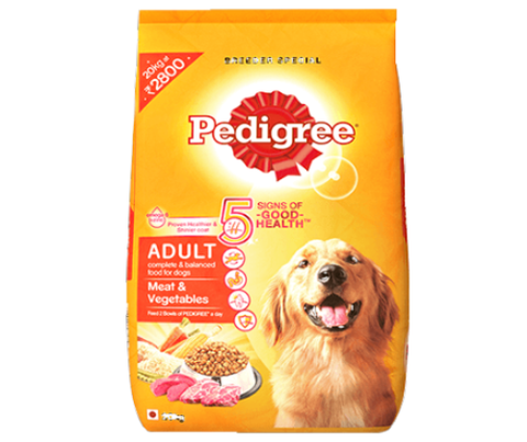 Pedigree Meat and Vegetables 20Kg - Adult Dog