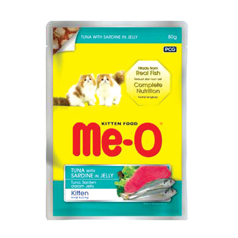 Me-O Pouch Tuna With Sardine 80g