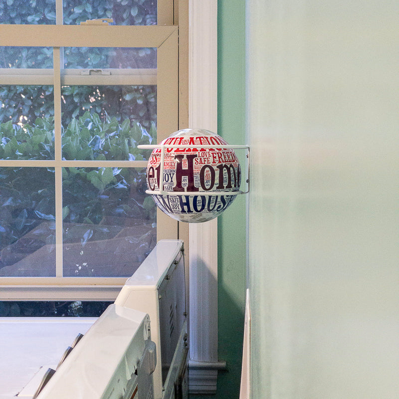 AFG Fireball-Home Sweet Home 3-Pound-Mounted on wall above dryer in laundry room | www.quoradistribution.com