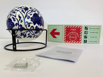 AFG Fireball, Dutch in black stand, emergency sign, user manual, mounting screws, product photo 1