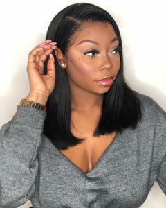 "16"" 16"" + 16"" Frontal Straight Bundle Deal - Harlem Hair Company"