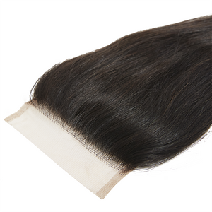 Virgin Brazilian Straight Closure  14 - Harlem Hair Company