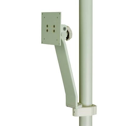 Monitor Support, Vertical Post Mounted, White - DCI 4920 - Avtec Dental