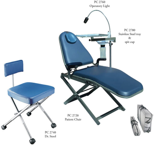 TPC PC 2700 Portable Dental Chair Package - Avtec Dental