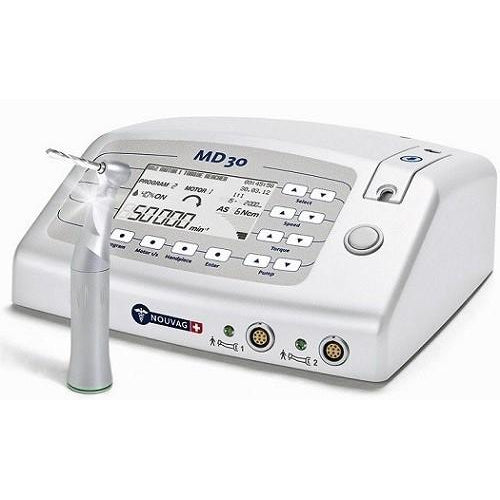 Nouvag MD 30 Surgical Motor System w/ LED 20:1 Push Button Handpiece - Avtec Dental