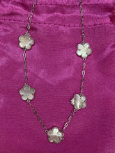 Load image into Gallery viewer, Opal Flower Sterling Necklace