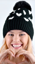 Load image into Gallery viewer, Pom Pom Hat with Hearts