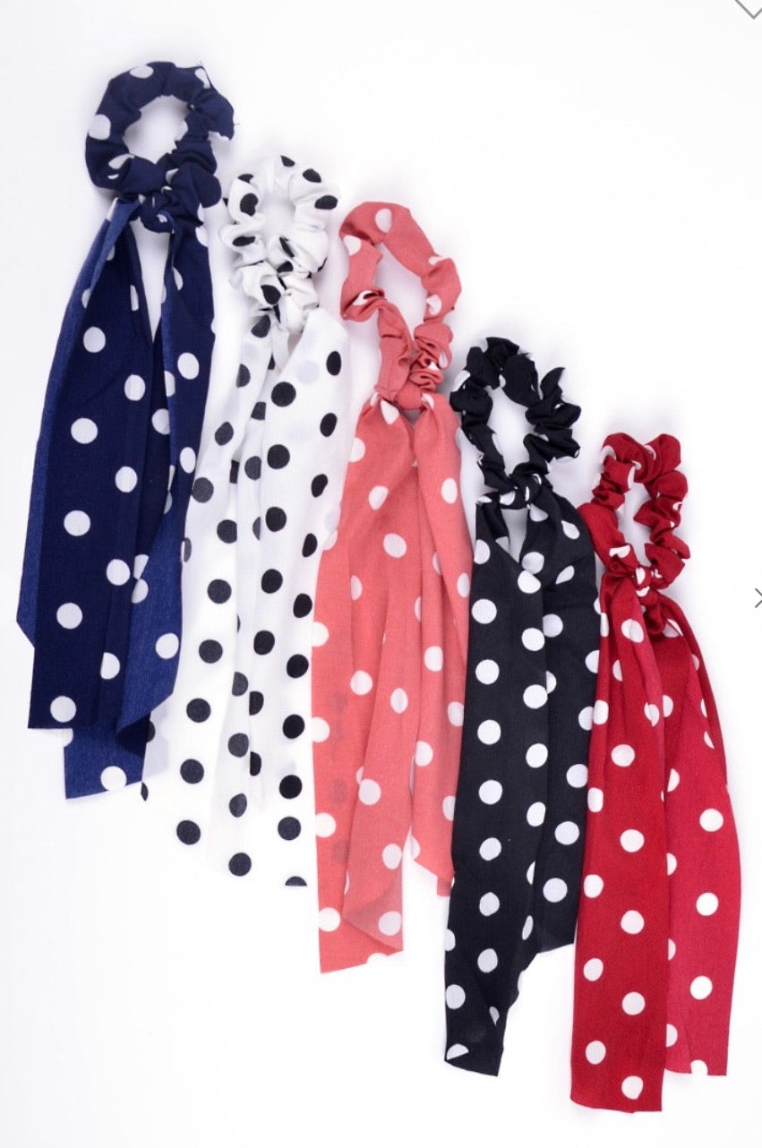 Chiffon Polka Dot Hair Ribbon