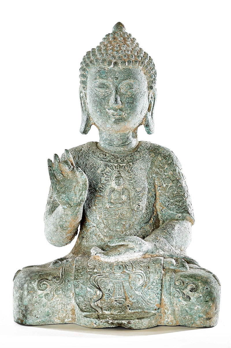 Antique Karana Mudra Protection Buddha