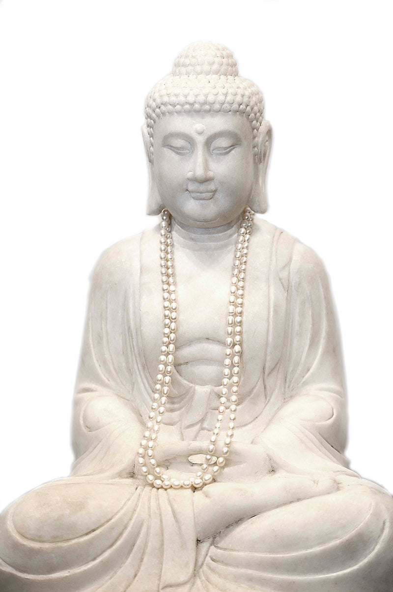 Large Hand-carved Marble Meditation Buddha