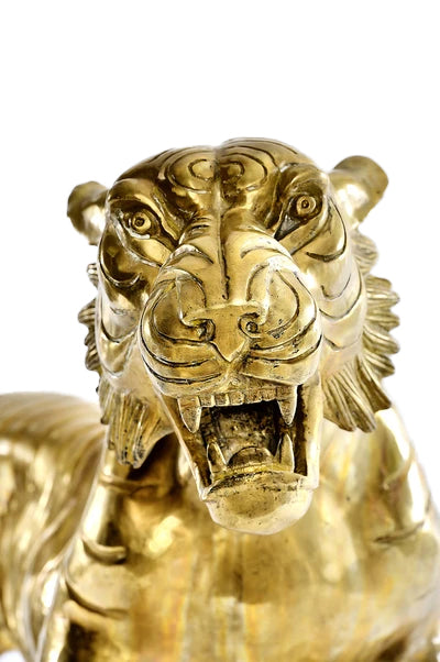 Large Brass Tiger Set