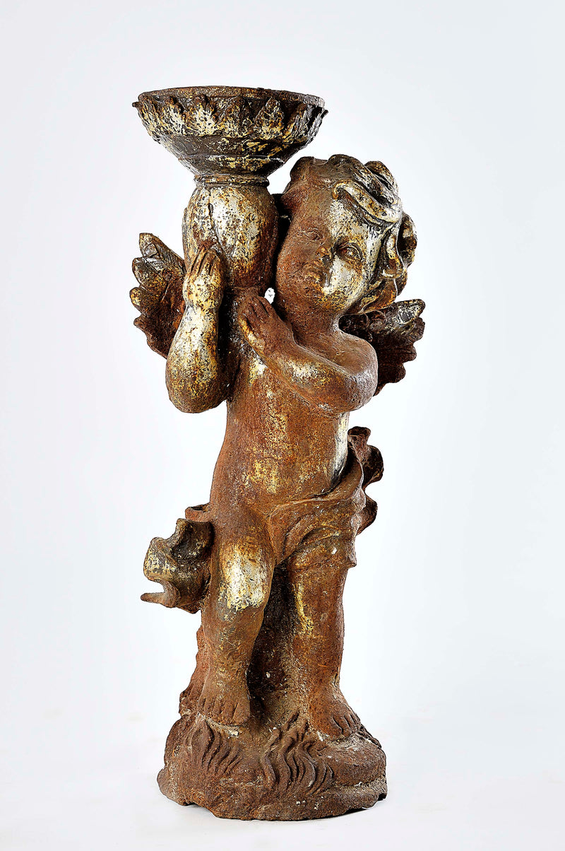Rustic Iron Cherub Angel