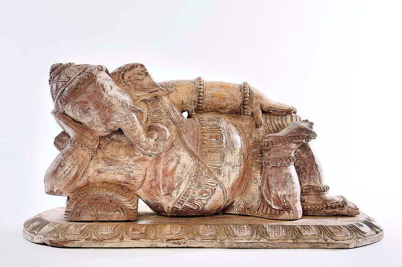Carved Reclining Ganesh