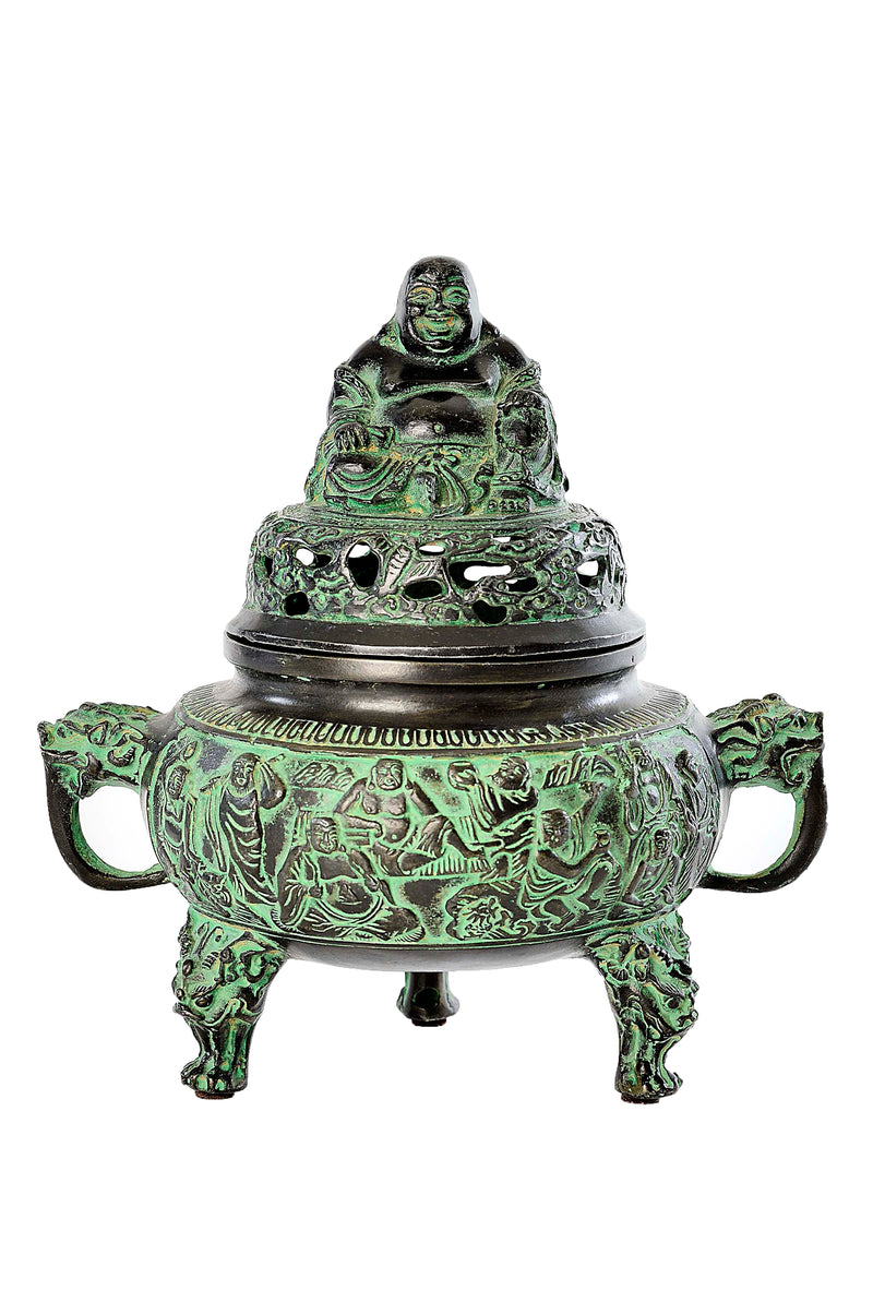 Laughing Buddha Incense Burner