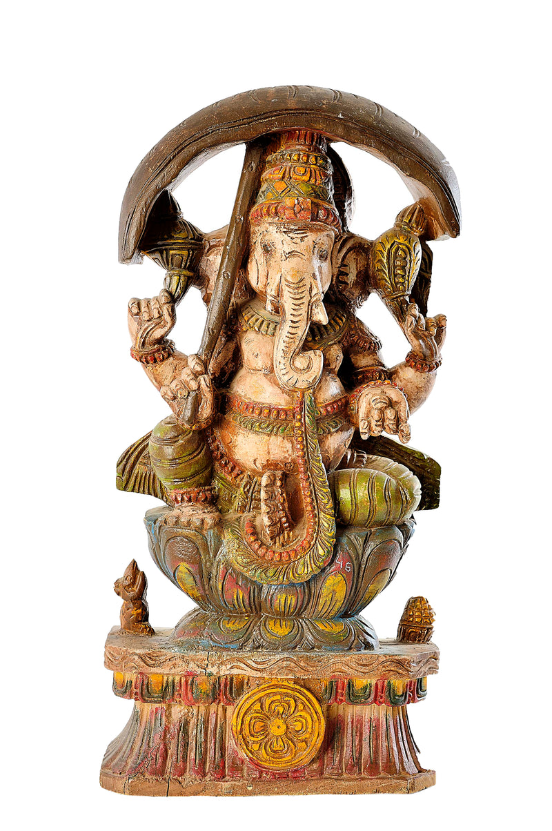 WD CARVED GANESH STATUE
