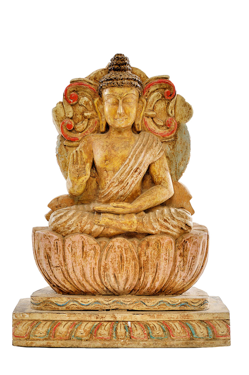 WD CARVED BUDDHA STATUE