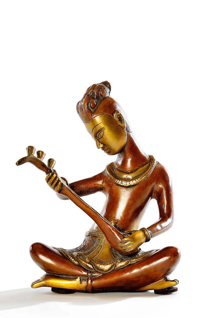 Brass Indian Classical Musicians (Pair)