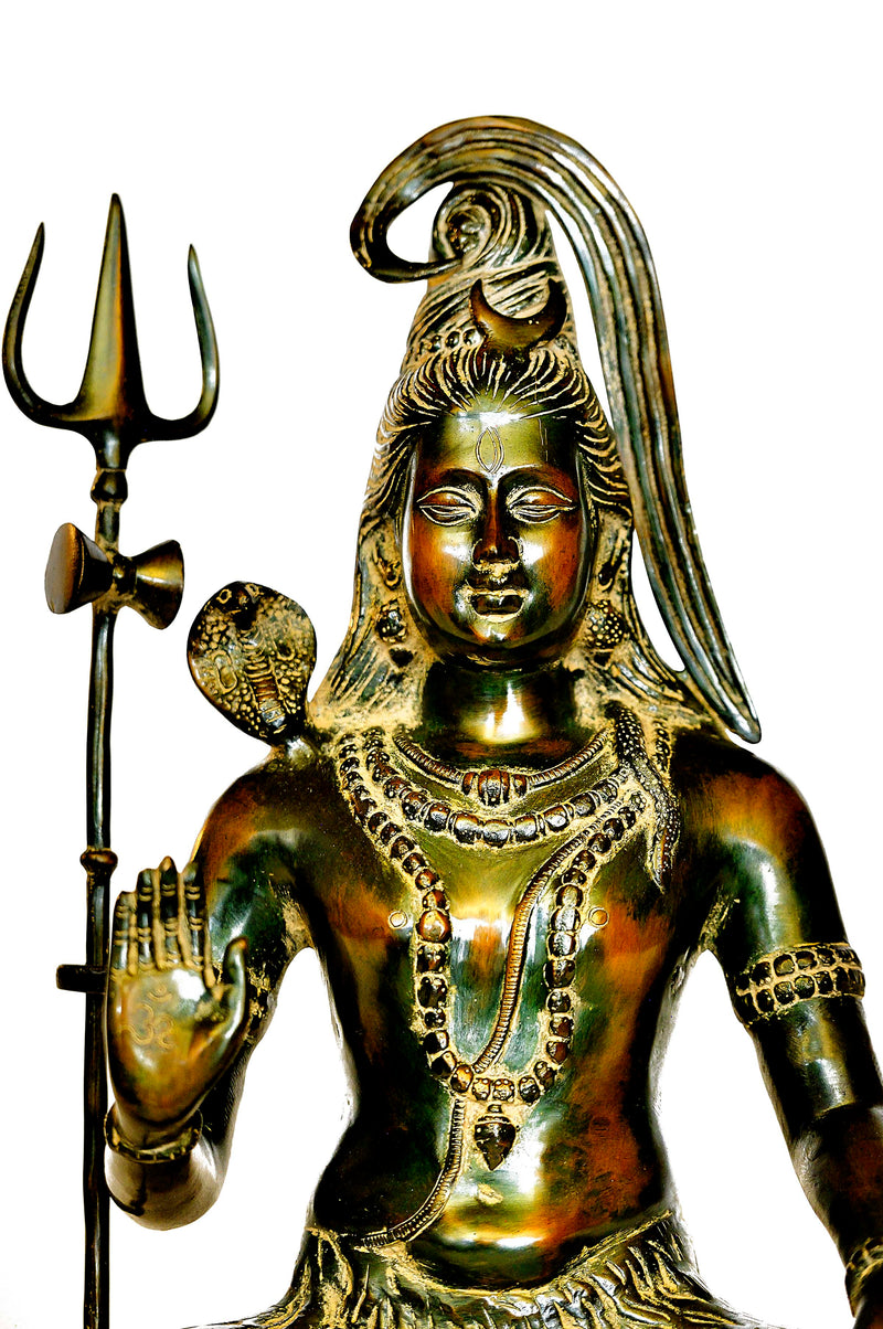 Brass Shiva Statue with Trident