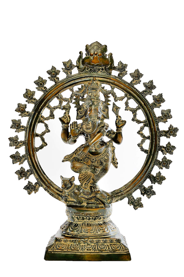 Unique Brass Ganesha Nataraja
