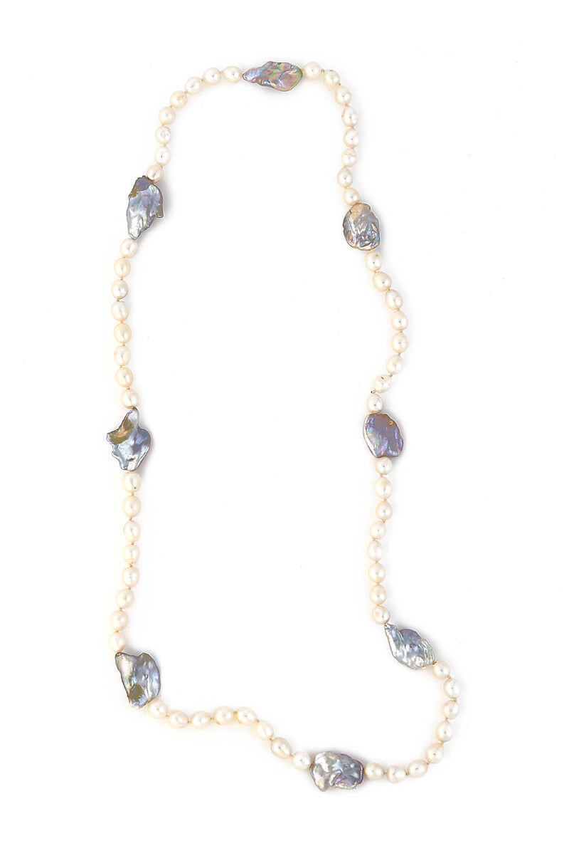 ONE OF A KIND Endless Natural Freshwater Pearl Necklace