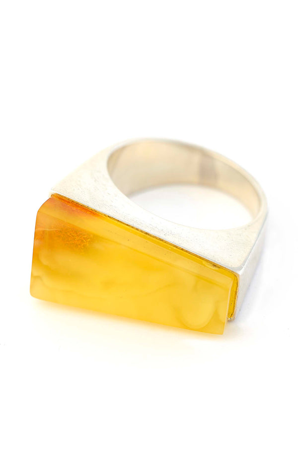 Butterscotch Freeform Amber Ring