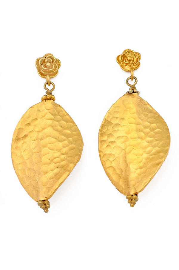 24kt Gold Over Sterling Silver Large Post Earring