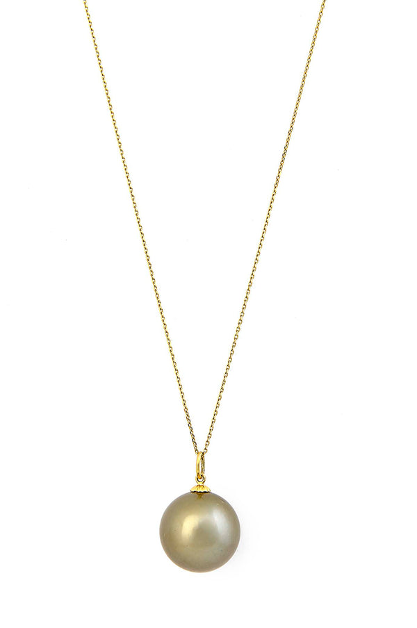 14kt Gold & Tahitian Pearl Necklace