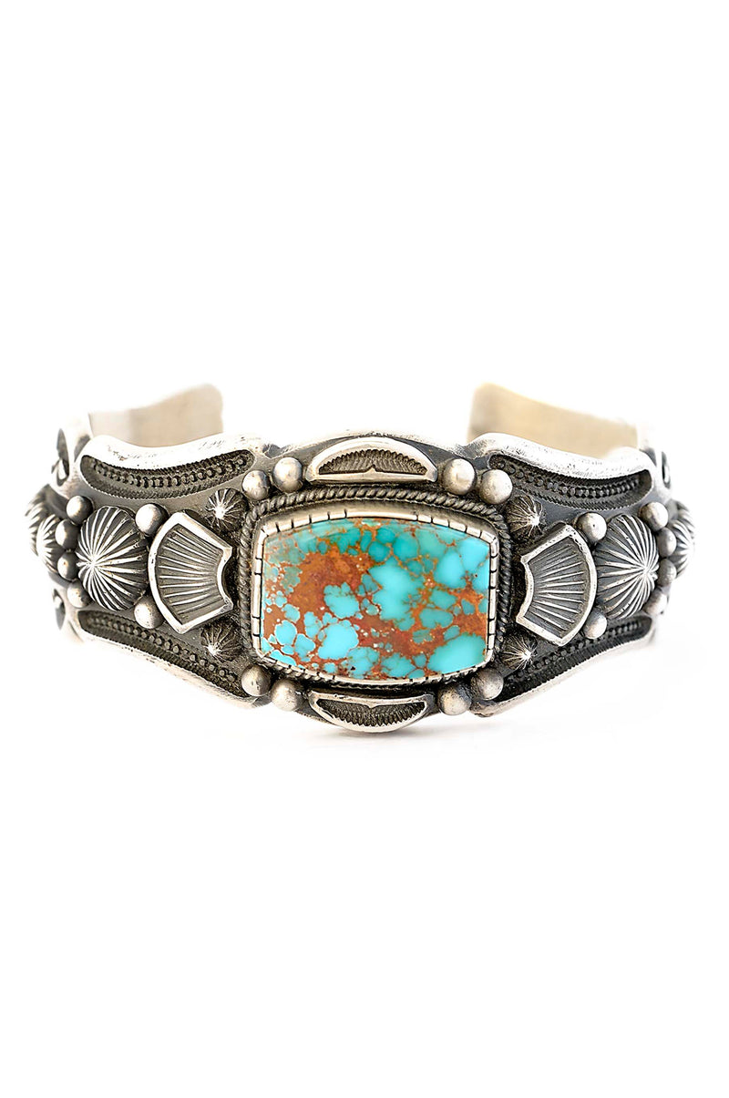 Harry Begay Pilot Mountain Turquoise Cuff Bracelet