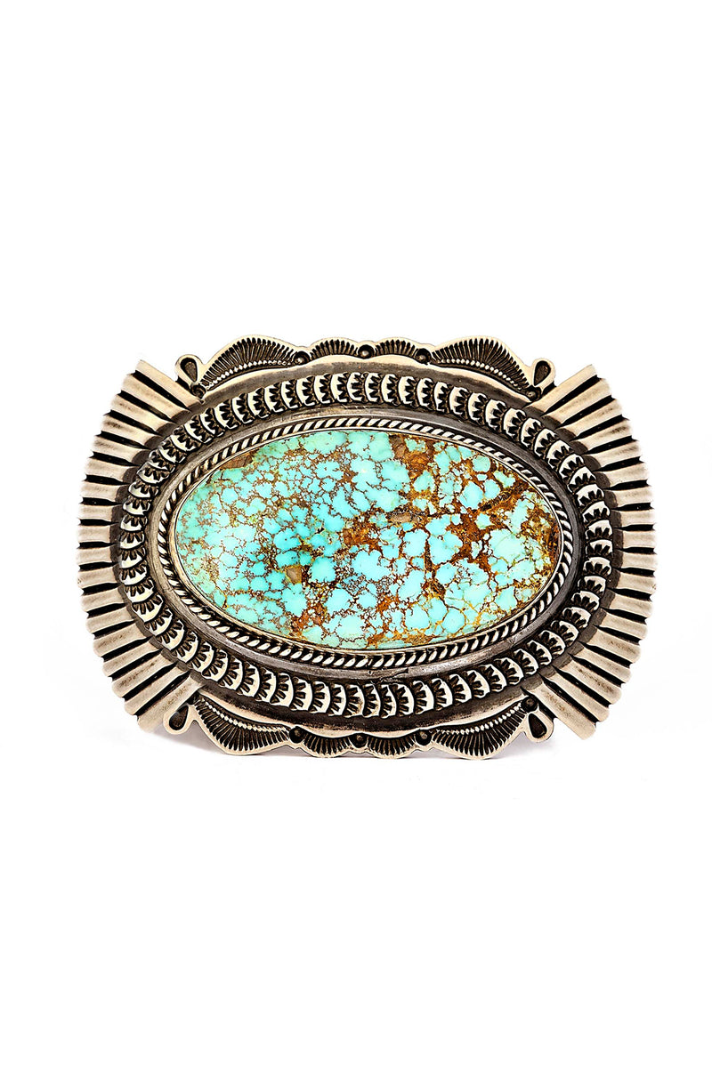 Navajo Sunshine Reeves Turquoise Mountain Belt Buckle