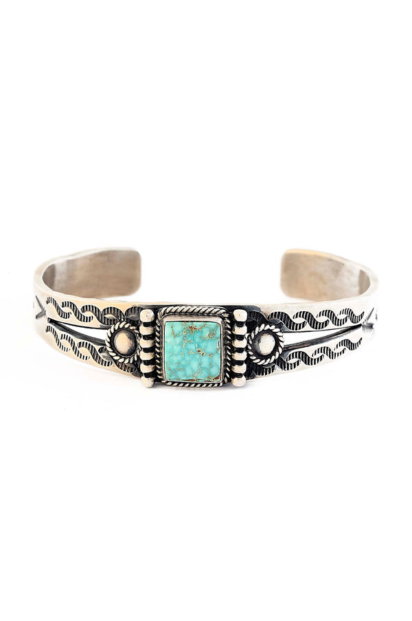 Pilot Mountain Turquoise Navajo Cuff
