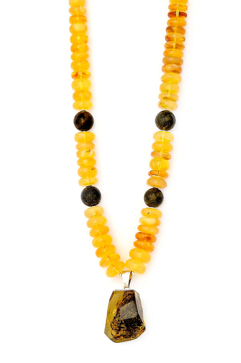 Gorgeous One of a kind Amber Pendant Necklace