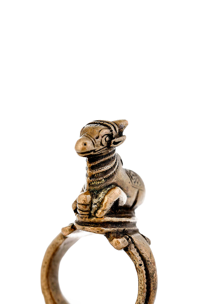 Vintage Copper Nandi Ring