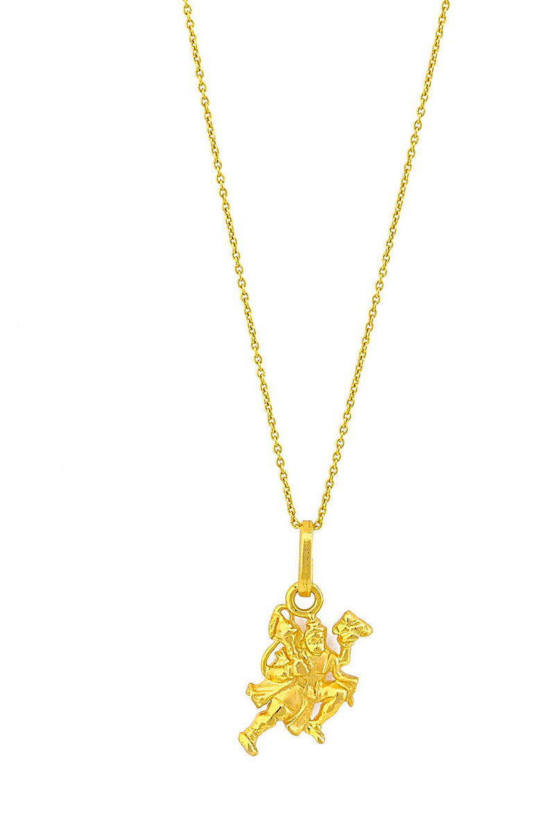 18kt Gold Flying Hanuman Pendant Necklace