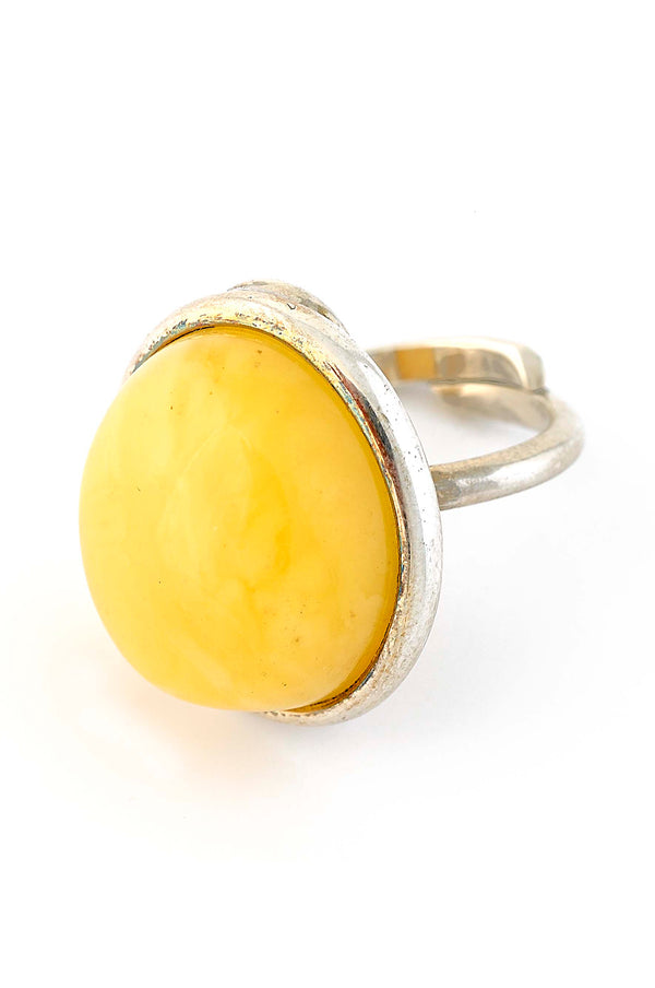 Butterscotch Amber Oval Ring