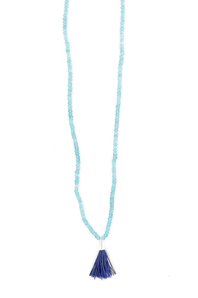 Apatite Roundel Tassel Necklace