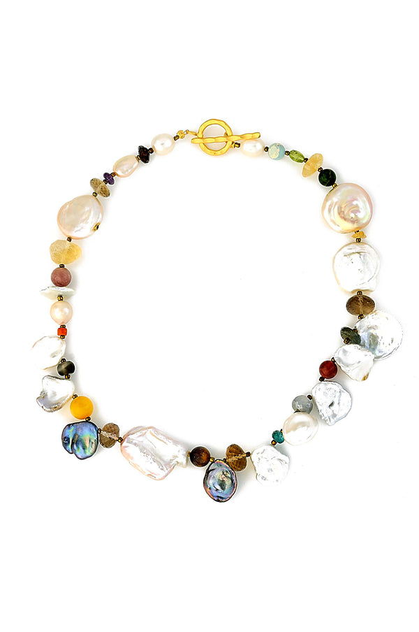 One Of A Kind Multi Gemstone Necklace
