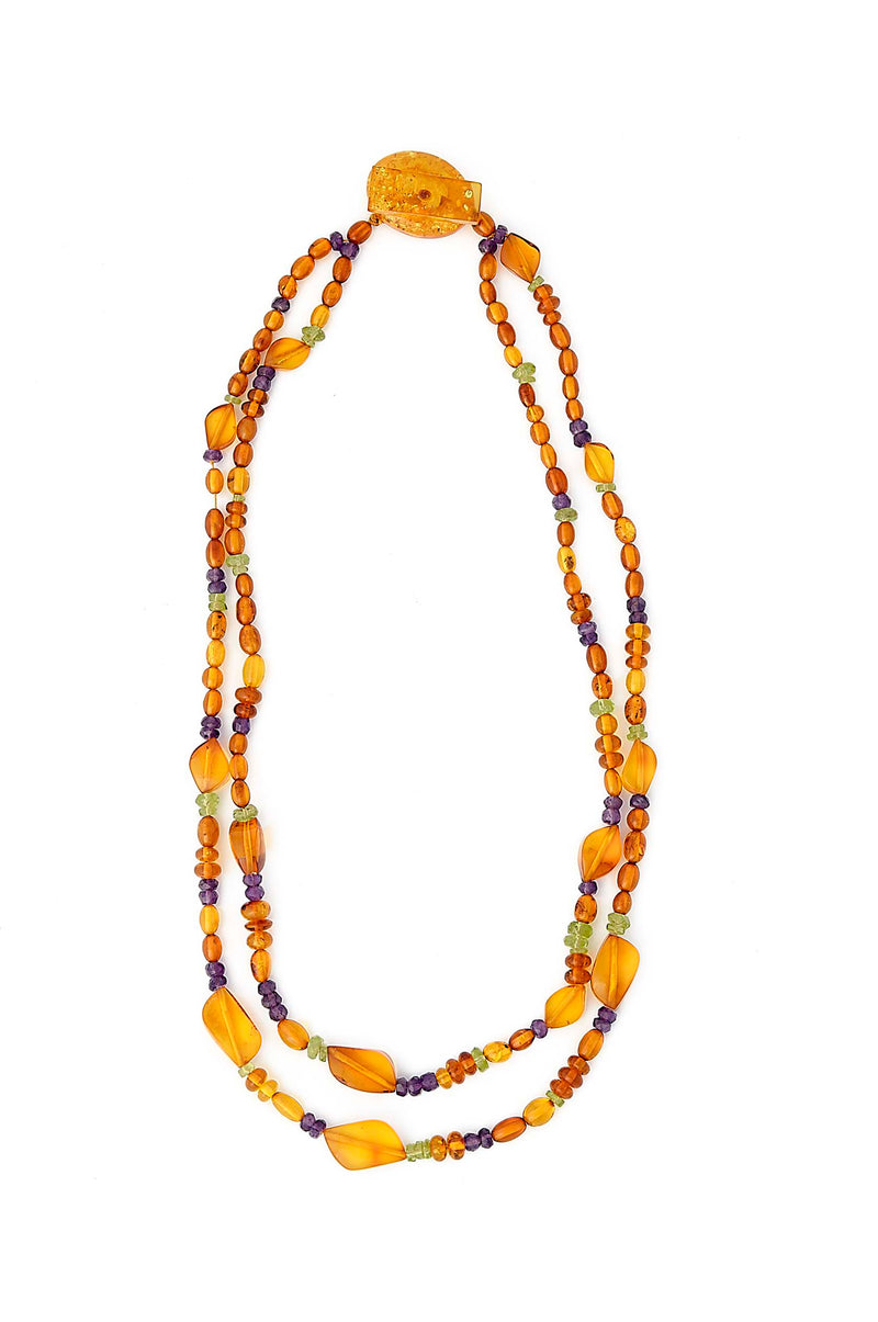 Double Strand Amber Necklace