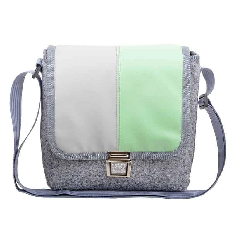 CITY BAG Bicolor Minze Grau