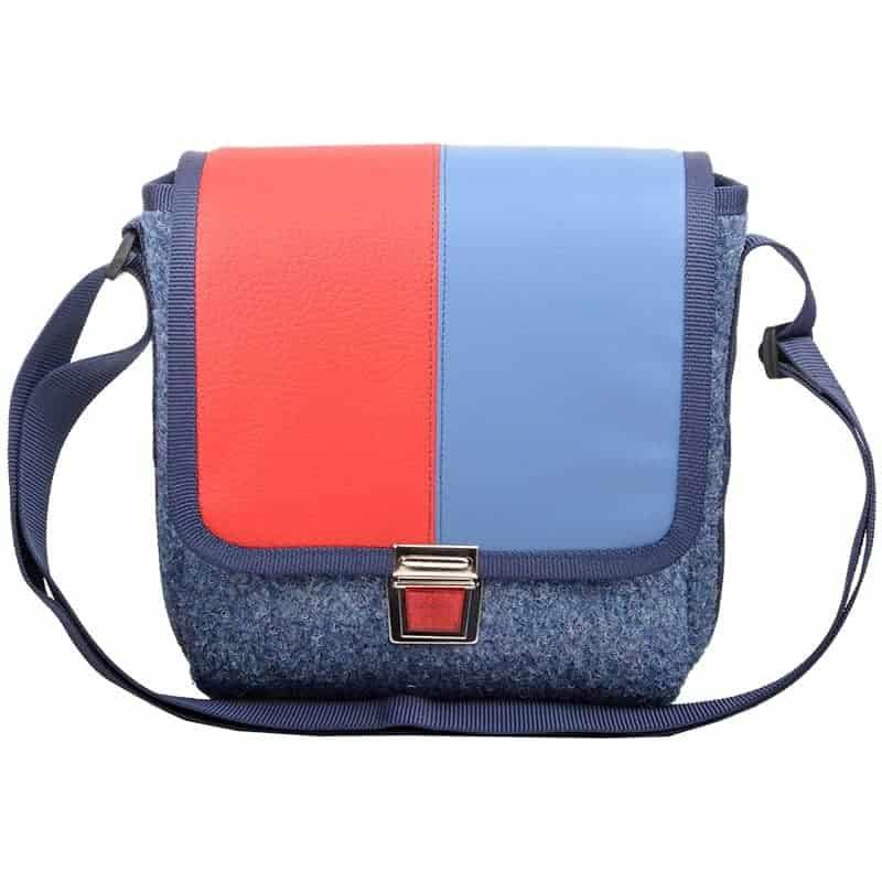 CITY BAG Bicolor Rot Blau