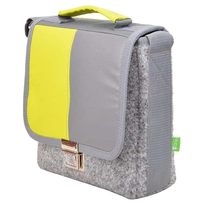 CITY BAG Bicolor Kiwi Grau