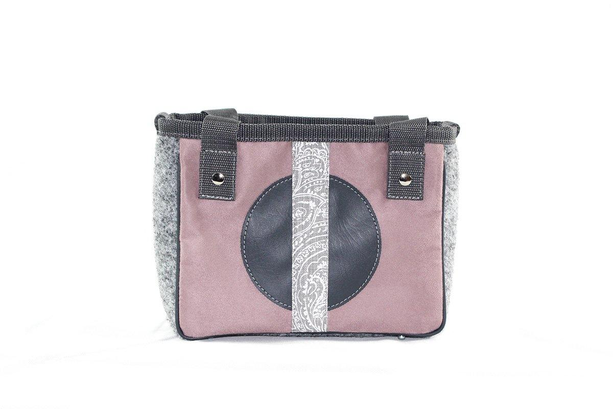 XS Shopper Paris rose mineral stripe