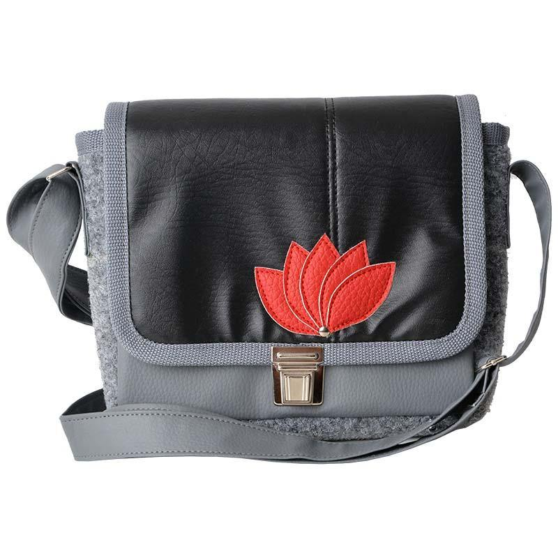 Lotus Bag Black-Red