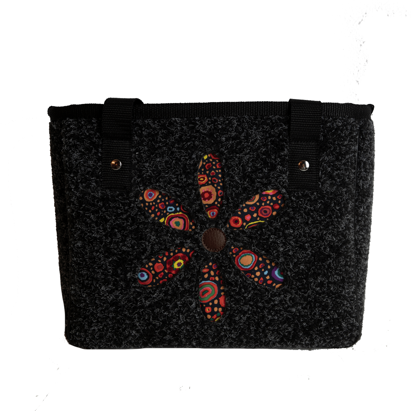 MINI SHOPPER Retroflower Black