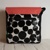 PETAL BAG Red Fizz Black 22x22x7 cm