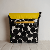 PETAL BAG Yellow Fizz Black