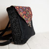PETAL BAG Rucksack Retroflower Black