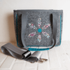MINI SHOPPER Retroflower Grey