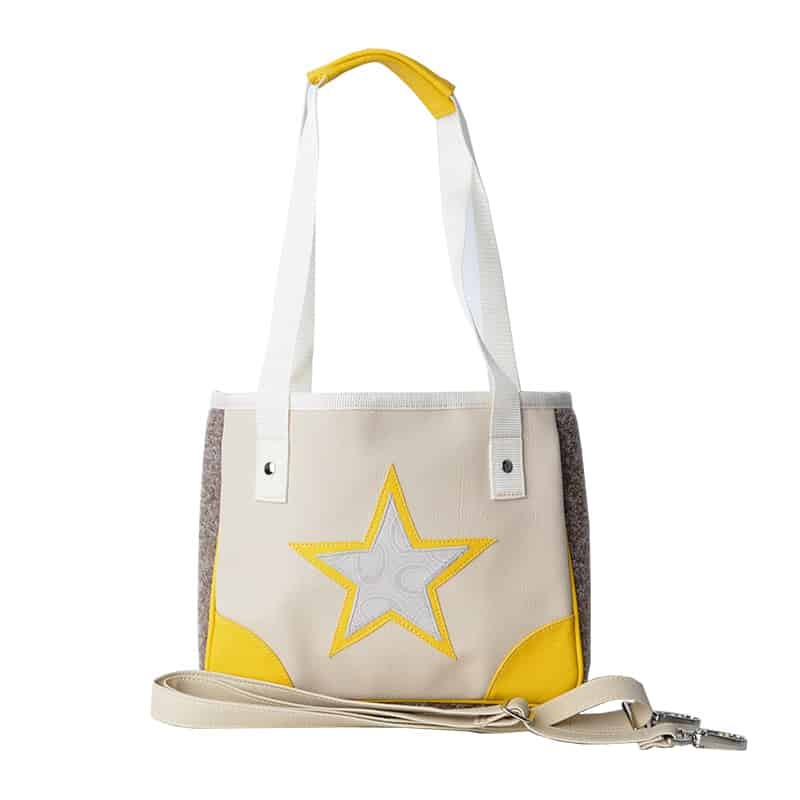 MINI SHOPPER Double Star Ornament Yellow