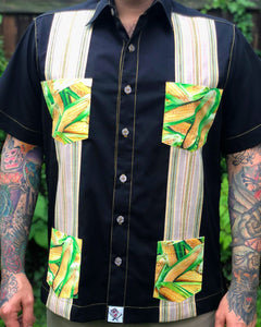 """Masa Life"" guayabera,  A tribute to the elote man in South Bay LA"
